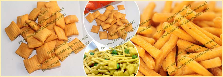 Hot sale angle crisps making production line/Puffed food machine