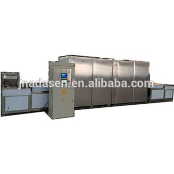 Tunnel type microwave potato chips making machine
