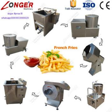 Factory Price Frozen French Fries Maker Crisps Finger Chips Frying Production Line Small Potato Chips Making Machine For Sale
