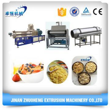 large capacity breakfast cereals corn flakes machine/machine to make corn flakes/roasted creal corn loops flakes machine