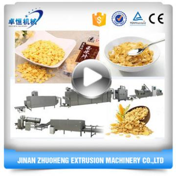 Multifunctional Automatic Corn Flakes Breakfast Cereals Extruded Machine