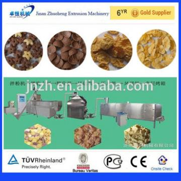 Automatic 100-500kg/h twin screw extruder corn flakes processing line/breakfast cereals making machine/production line