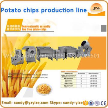 Small scale semi-automatic potato chips production line , industrial potato chips making machine