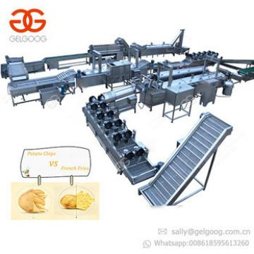 Industrial Automatic Fried Frozen French Fries Maker Potato Crisp Production Line Lays Potato Chips Making Machine for Sale