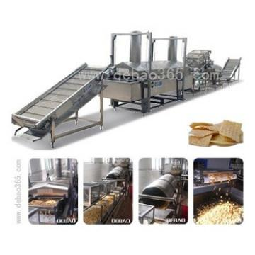 Seafood flavoured snack food crispy french fries making machine french chips frying machine