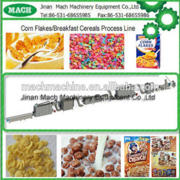 Twin screw extruder breakfast cereals corn flakes machine