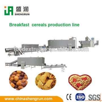 Semi-automatic multi-grain loops breakfast cereals production line machines