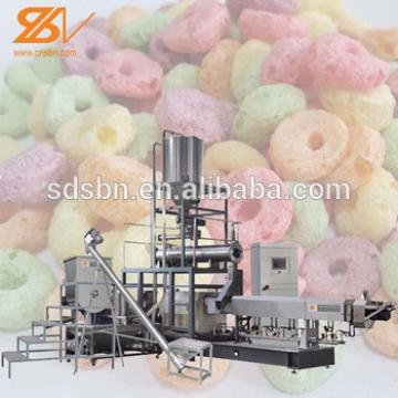 Fully Automatic 2015 Hot Selling breakfast Puffed Cereal Snack Food Production Line