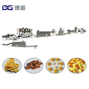 Automatic Crunchy Cereal Breakfast Cornflex Processing Equipment Corn Flakes Extruder Machine