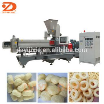 Hollow tube puff snack extruder making machine