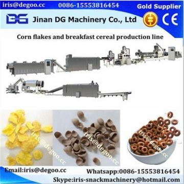 Multifunctional Automatic Corn Flakes Breakfast Cereals Extruded producing Machine