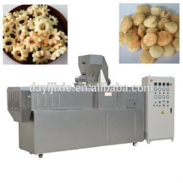 corn puffed food snacks double screw extruder making machine