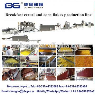 Fctory supply corn flakes cereal food extruder machine corn flakes cereals production line