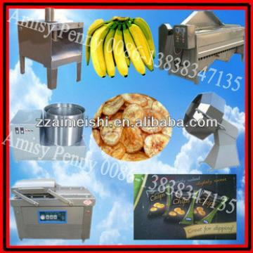 automatic plantain chips making machine/fried plantain chips processing line/0086-13838347135