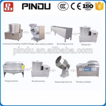 industrial small scale fried potato chips/stick making machine production line