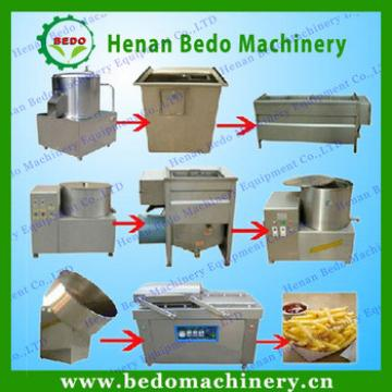 BEDO Excellent quality potato chips production line/fresh potato chips making machine/frozen french fries maker