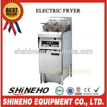stainless steel professional pressure fryer/semi-automatic potato chips making machine