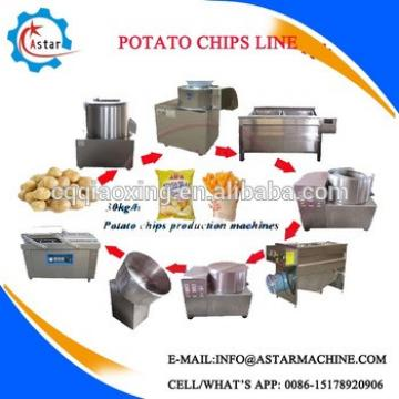 Semi-automatic Fried French Potato Crisps Chips Making Machine