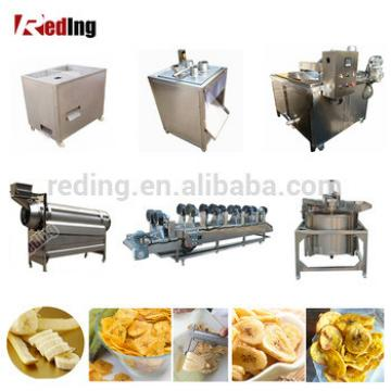 Professional Green Banana Peeling Slicer Machine Banana Plantain Chips Production Line Making Machine