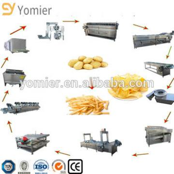 potato french fries production line/potato chips making machine price/frozen french fries machinery