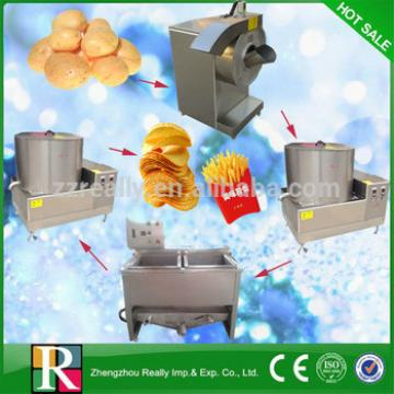 Fully food-grade stainless steel 50kg/h small scale potato chips making machine