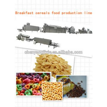 Automatic grain corn rice breakfast cereal flaking machine production line