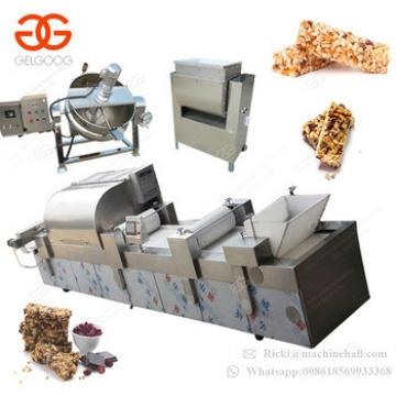 Fully Automatic Peanut Candy Forming and Cutting Machine Oat Crispy Sesame Bar Making Machine