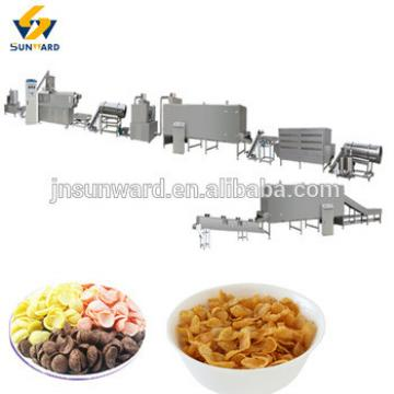 Automatic extrusion nutritional corn flakes processing line,plant , breakfast cereal machine on hot sale
