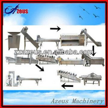 300kg/h economic full automatic machines to produce frozen potato chips/french fries making machines price