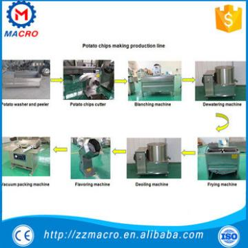 small scale frozen potato chips making machines/frozen french fries production equipment