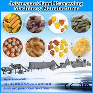 single screw extruder fried pellet chips snack food processing line