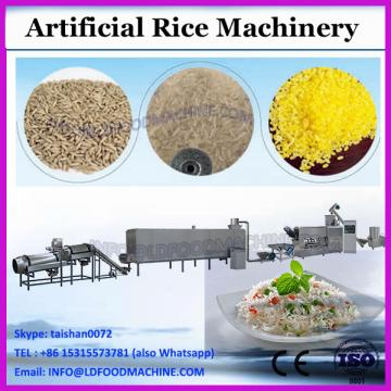 Double screw extruded re-producing artificial cooked rice production machine line making equipment
