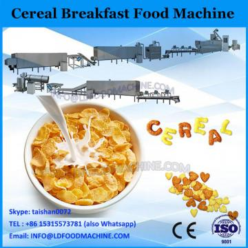 Automatic Kelloggs continuous 300kg/h grain breakfast cereal corn flakes making snack machine China supplier