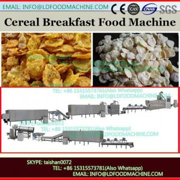 Corn flakes making machine with hot air puffer