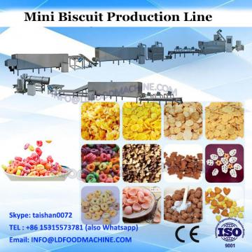 Mini biscuits production line mesh wire oven belt industrial waffle maker machine