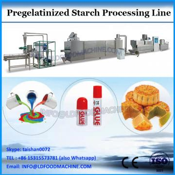 Pregelatinized starch extruder machine processing line