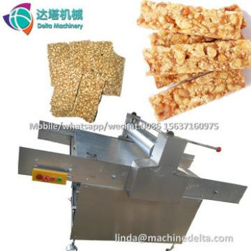 Semi automatic peanut brittle cutting production line/Gozinaki cereal granola bar maker machine