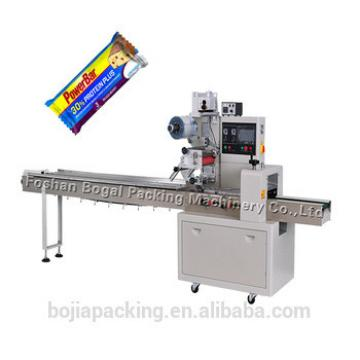 Flow Automatic Candy Granola Energy Chocolate Bar Packaging Machine