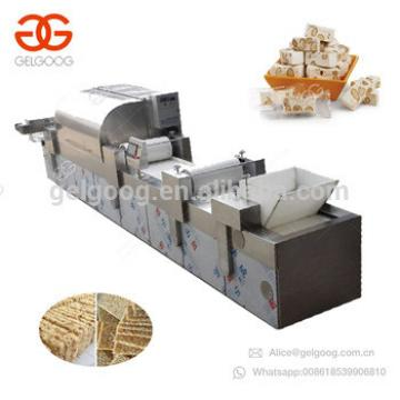 Automatic Muesli Nut Candy Making Cereal Protein Energy Bar Production Line Sesame Snap Cutter Chikki Snack Bar Machine