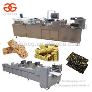 Quality Protein Peanut Brittle Granola Peanut Chikki Candy Production Line Energy Nut Bar Equipment Snap Sesame Cereal Bar Cutt