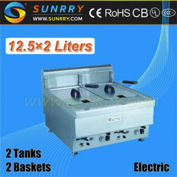 Commercial Table Top Deep Fryer 12 liters Frying Range of Potato Chips Making Machine (SY-TF600A SUNRRY)