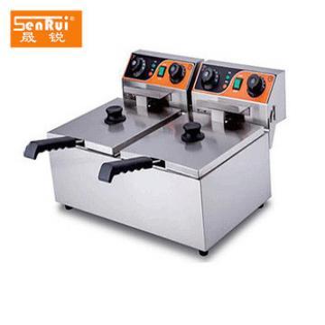 Potato chips making machine Double Tanks electric deep fat fryer