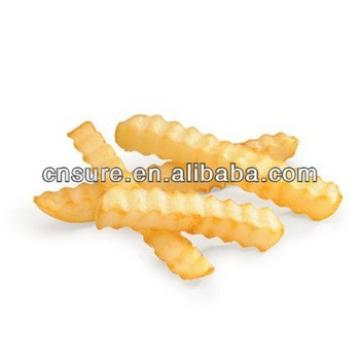 Small Scale Potato Crinkle Wavy Fries Processing Line/French Fries Line/Crisps Making Machine