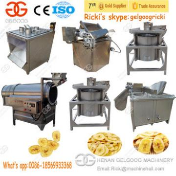 Durable Cutter Type Banana Slicer and Fryer Process Production Line Potato Plantain Chips Making Machine