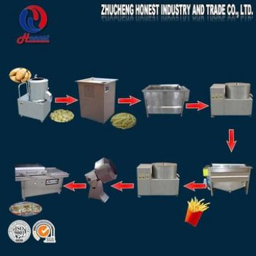 Recommended 30Kg/H Small Scale Industrial Potato Chips Making Machine