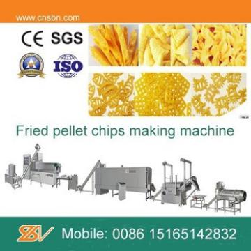 Fried potato pellet chips making machine processing line