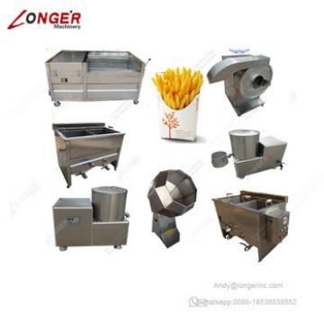 Commercial Industrial French Fries Production Line Potato Chips Making Machine For Sale