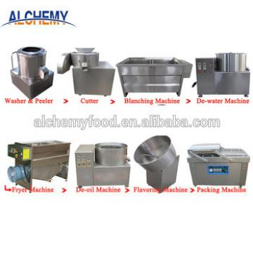 stainless steel potato chips frying machine/potato chips making line