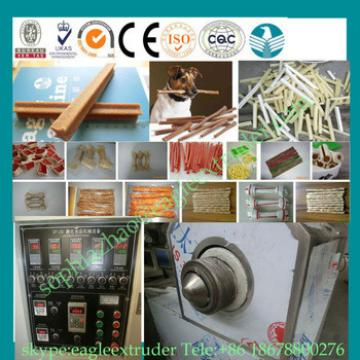 Chinese 100kg/h dog chews machine/dog chewing gum making machine