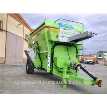 10m3 FEED MIXER WAGON HORIZANTAL AUGER WITH DIGITAL LOADCELL AND OIL TANK FROM TURKEY Animal Feed Machinery